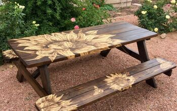 Lowe's Picnic Table Makeover, Memaw's Way!