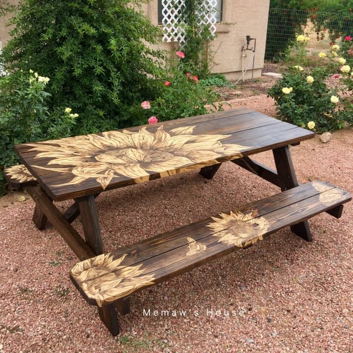 Stain A Lowe S Picnic Table Makeover