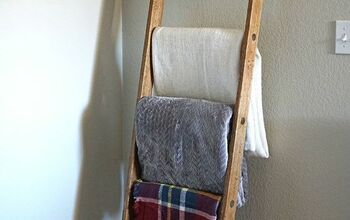 How to Make an Authentic DIY Farmhouse Blanket Ladder