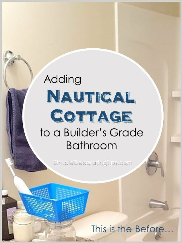 nautical cottage bathroom simple upgrade
