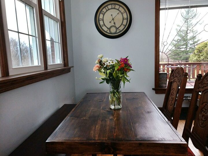 upcycling a round folding table