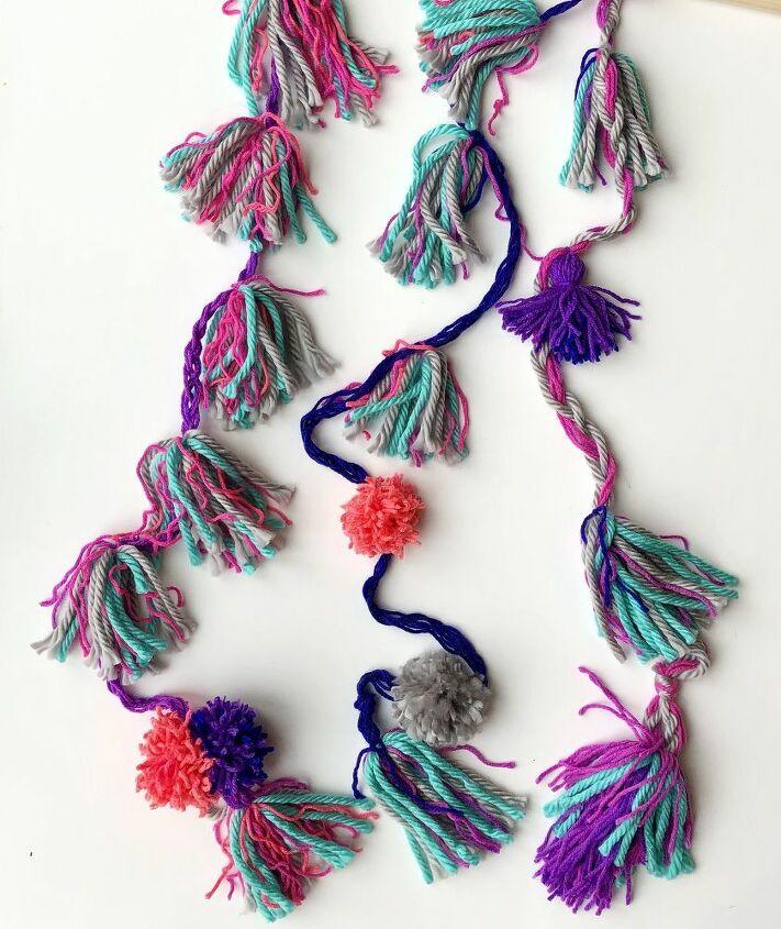 hanging tassel garland