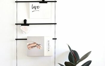 Make a Minimal Art & Magazine Display Ladder