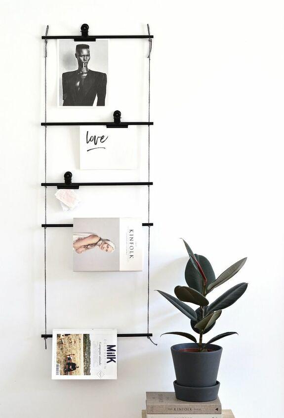 make a minimal art magazine display ladder