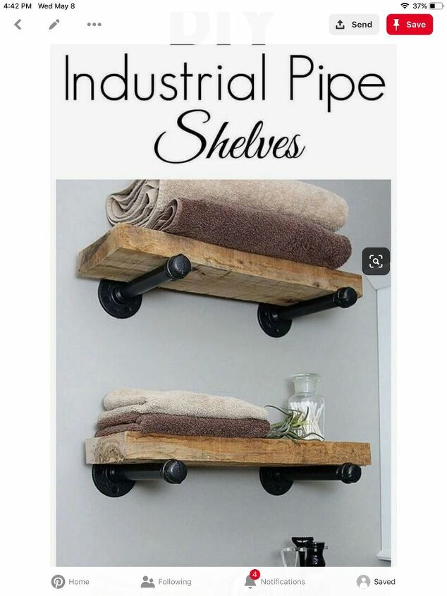q how do i attach pipe shelves to mdf style shiplap if there isn t dry