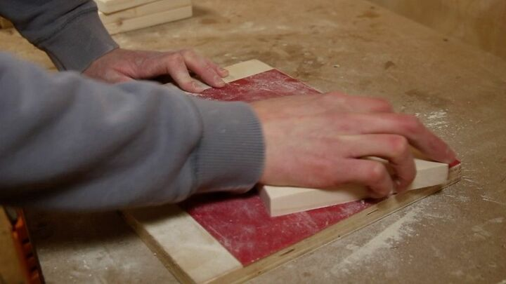 Sanding the side pieces