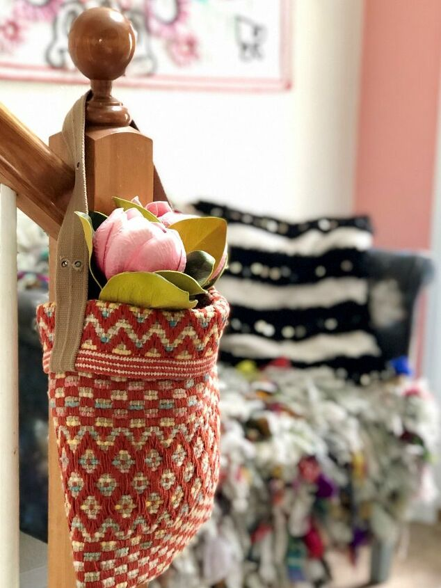 hanging rug basket