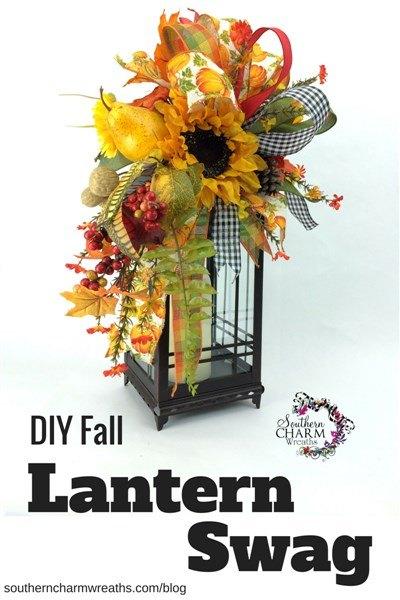 lantern wreath diy