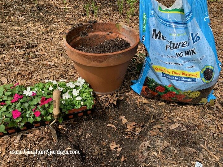 add a touch of creativity to your yard with a spilled planter