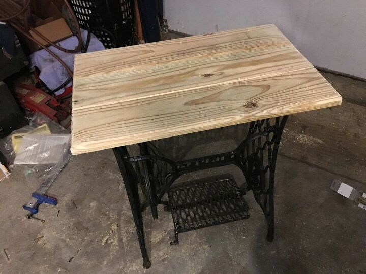 new top for a treadle sewing machine table