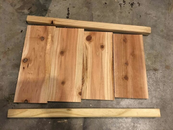 easy planter from cedar fence pickets
