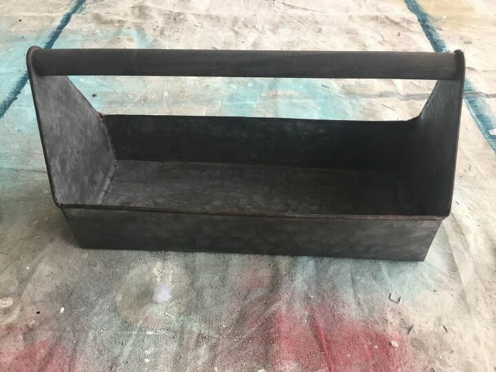 metal caddy makeover