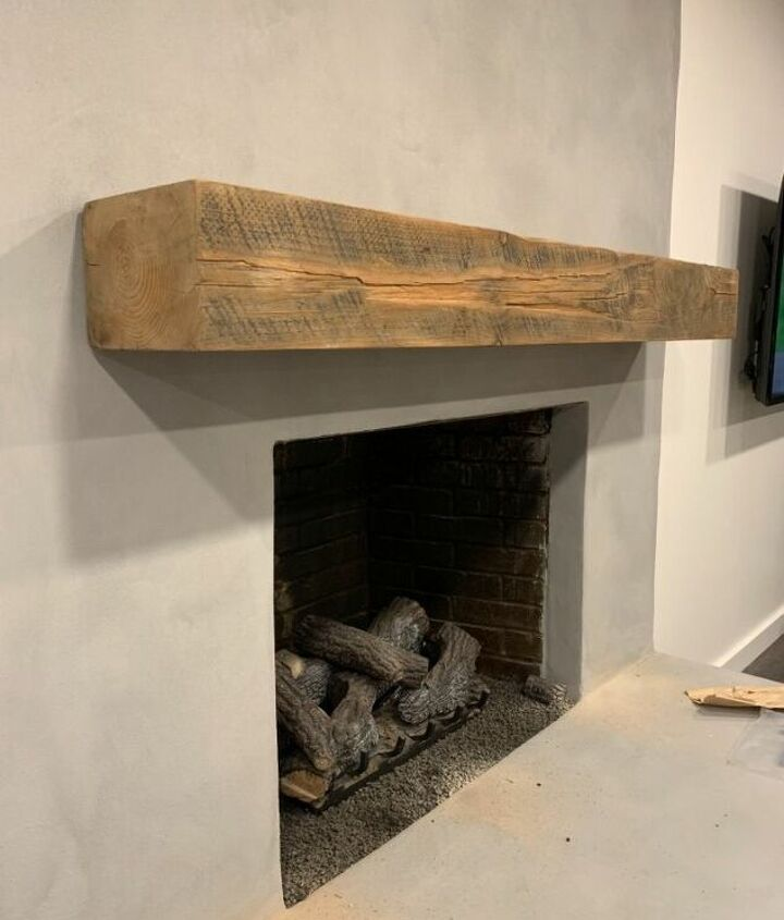 how to hang a floating mantel