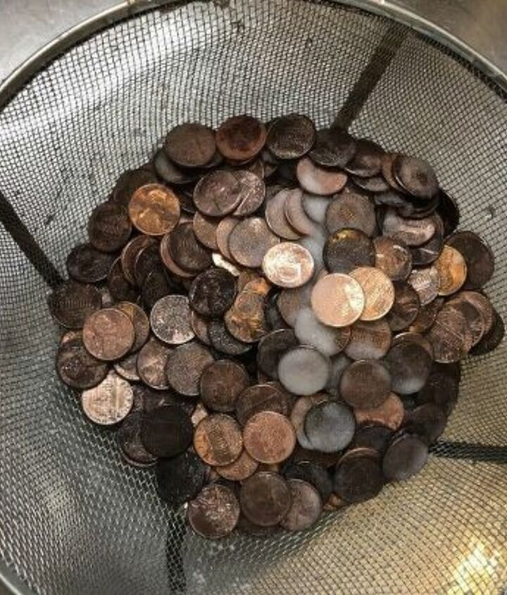 patina pennies on letters