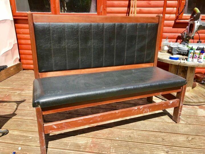 garden bench seat makeover, Street find