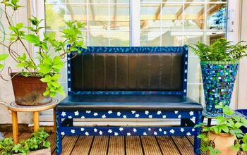 How to Transform an Dull Bench Seat Into a Pretty Garden Must Have!