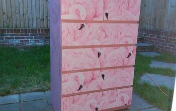 Updating an IKEA Dresser Using Flamingo Fever Wallpaper