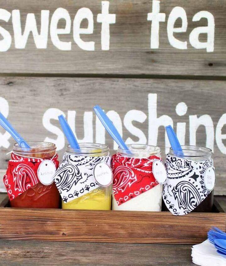 backyard bbq condiment holders