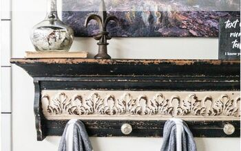 DIY a Vintage Inspired Shelf-Towel Rack in Less Than 30 Minutes