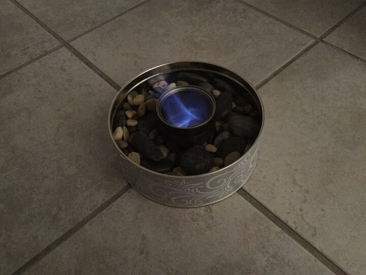 indoor fire bowl project