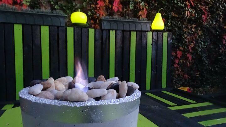 outdoor fire bowl diy