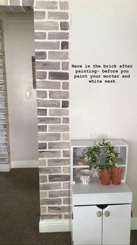 DIY Painted Brick