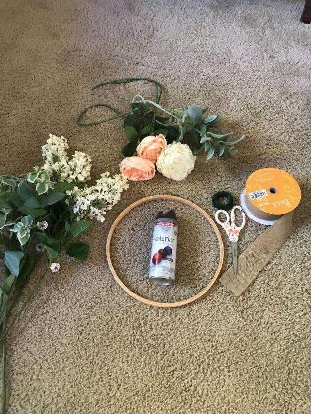 hoop wreath diy
