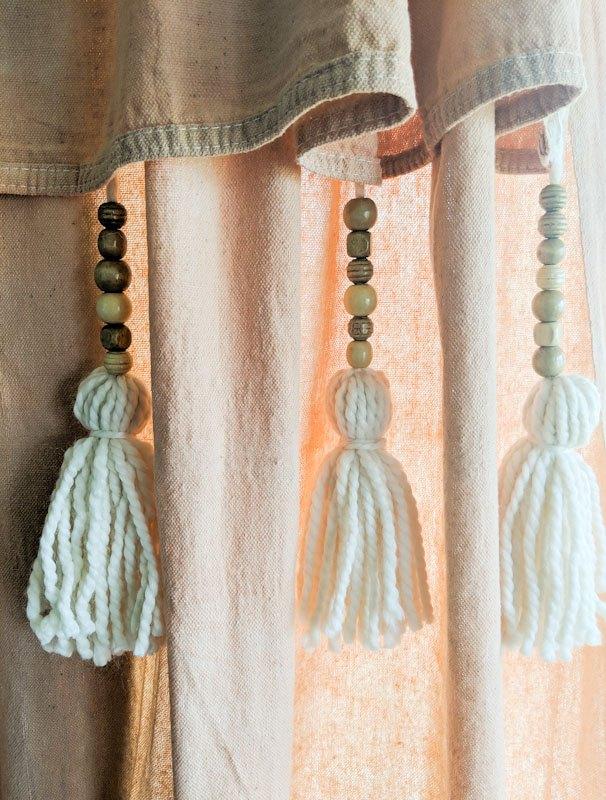 dip dyed drop cloth curtains