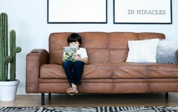 How To Paint Your Old Couch + Paint That Acts Like Faux Leather!