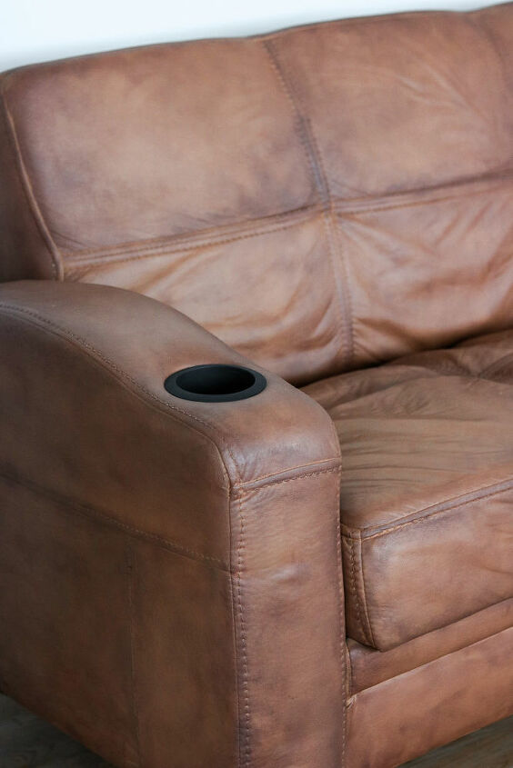 how to paint your old couch paint that acts like faux leather