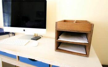 DIY Wooden Paper Organizer