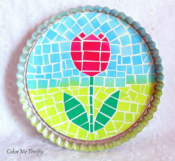 quick and easy faux mosaic tulip