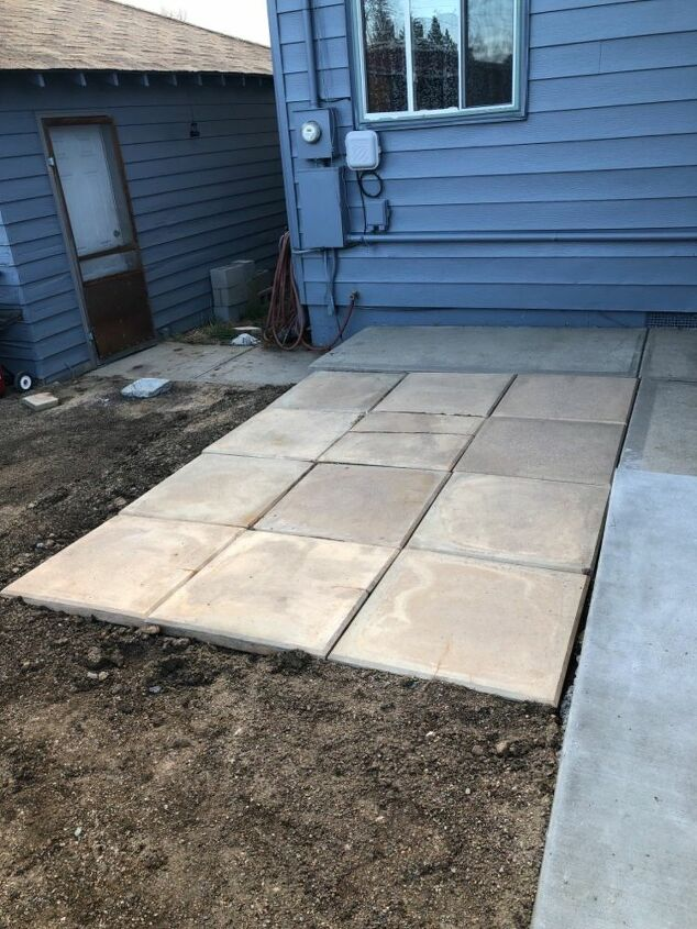 Large pavers from old patio