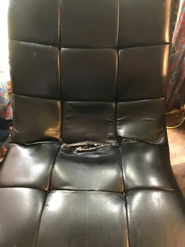 q repair faux leather chaise tear