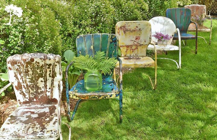 how to refresh vintage metal lawn chairs