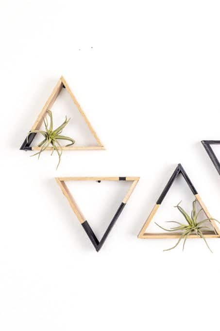 how to make diy mini triangle shelves
