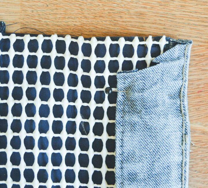 how to make a denim doormat