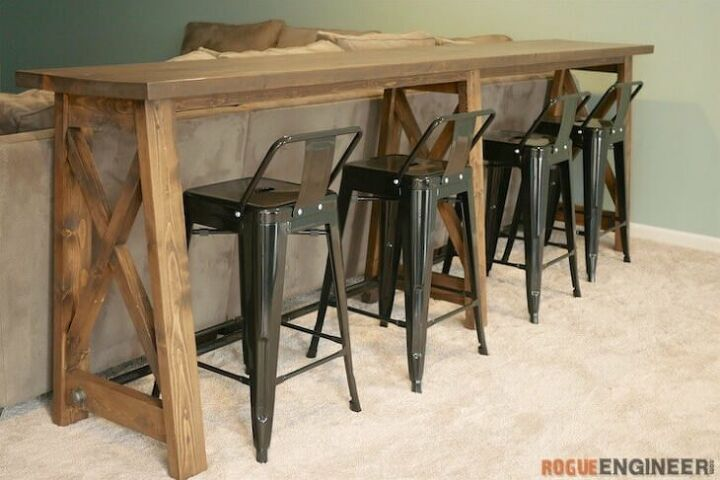 bar top console table