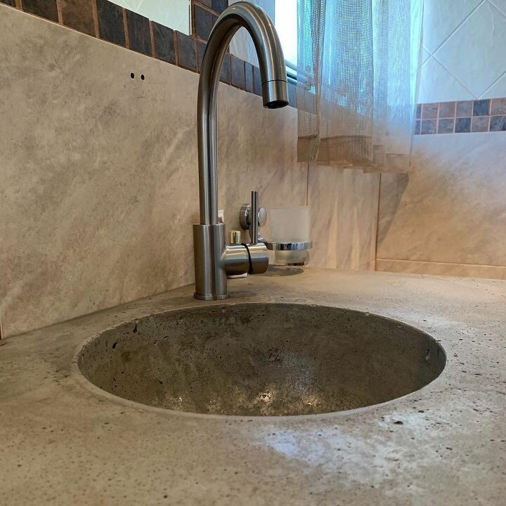 DIY Concrete Bathroom Sink