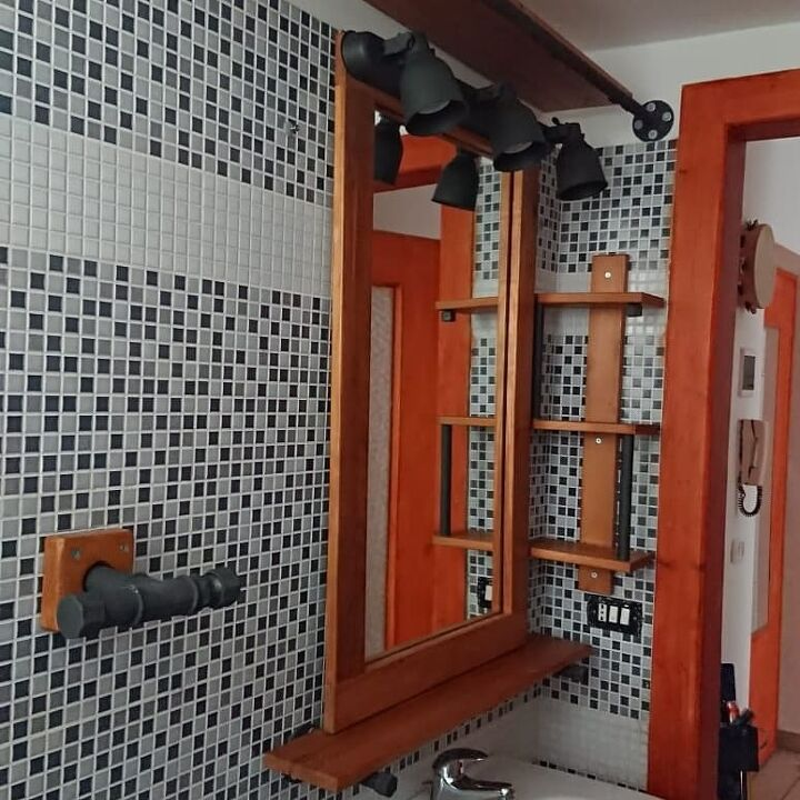 restyling bathroom furniture with industrial style look diy