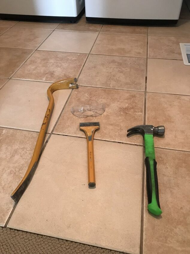 how to remove hideous floor tile for good