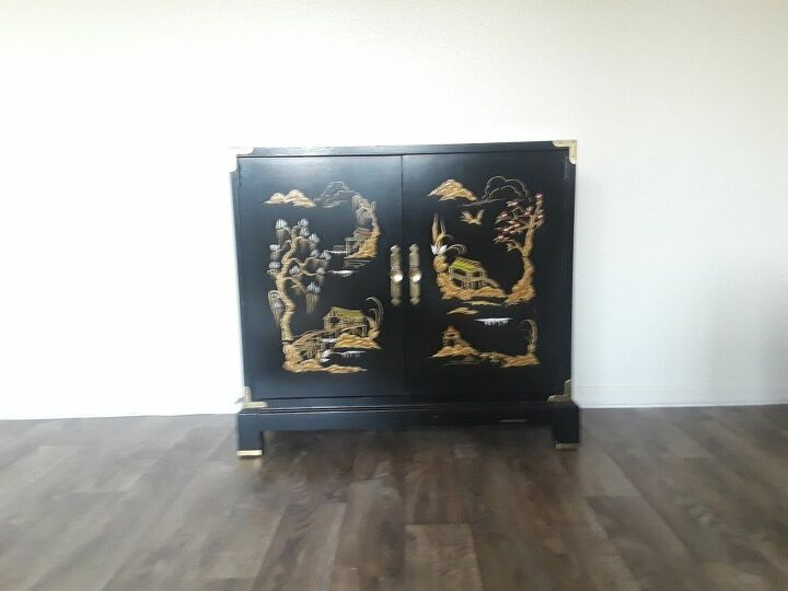 q how do i find out the value of this hand painted cabinet