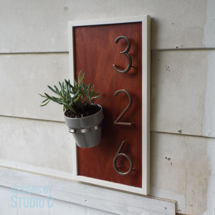 an easy to build modern address sign