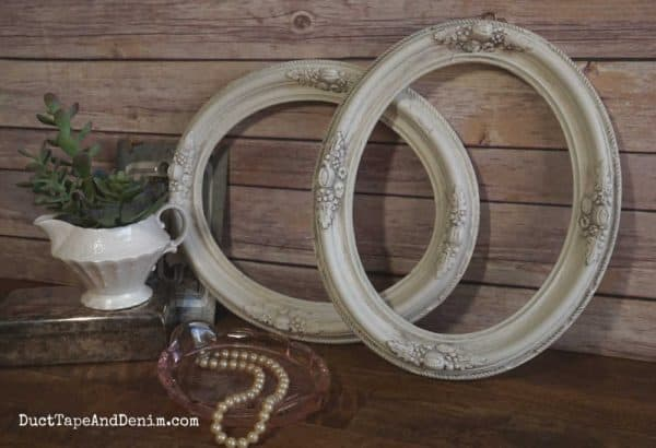 how to age thrift store frames with antiquing dust