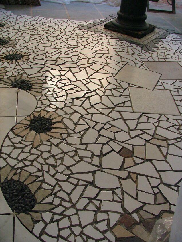 Mosaic Floor DIY