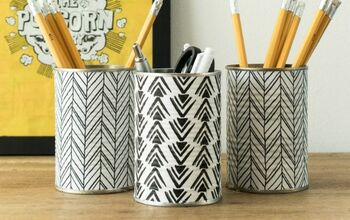 DIY Tin Fabric Pencil Holder