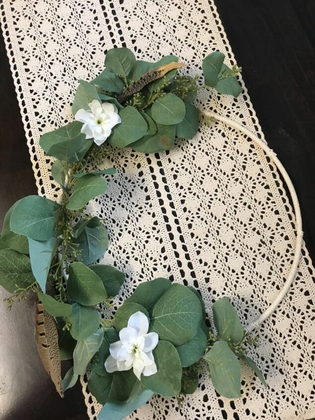 boho asymmetrical wreath