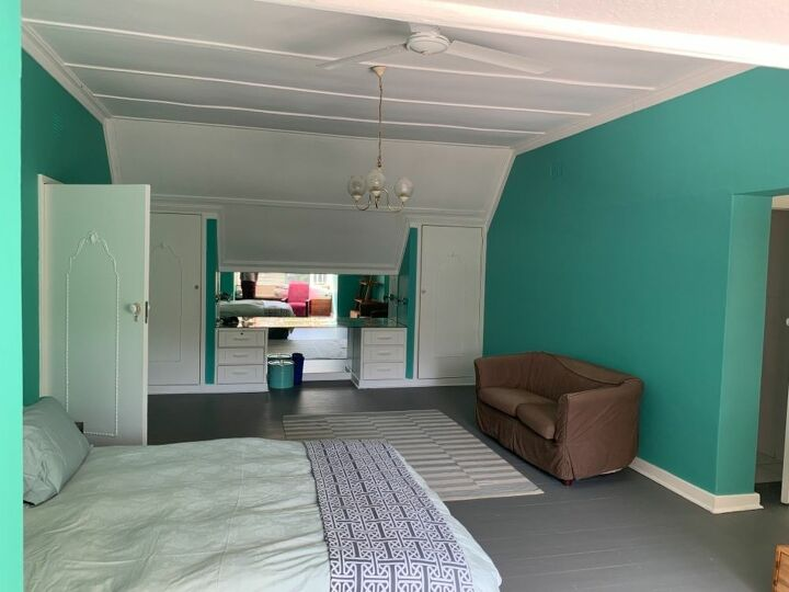 How do I make this turquoise room look less like an 90's