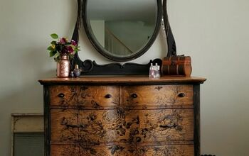 How to Update an Antique Serpentine Front Dresser Using a Transfer