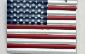 Corrugated Metal American Flag
